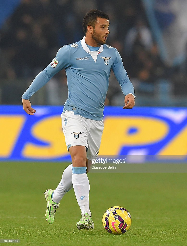 Felipe Anderson of SS Lazio in action during the Serie A match between SS Lazio and Atalanta BC at Stadio Olimpico on December 13, 2014 in Rome, Italy.