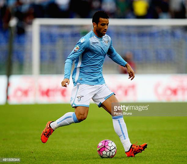 Felipe Anderson of SS Lazio in action during the Serie A match between SS Lazio and Frosinone Calcio at Stadio Olimpico on October 4 2015 in Rome...