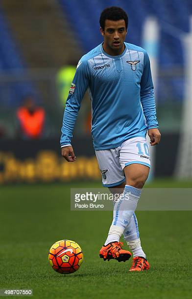Felipe Anderson of SS Lazio in action during the Serie A match between SS Lazio and US Citta di Palermo at Stadio Olimpico on November 22 2015 in...