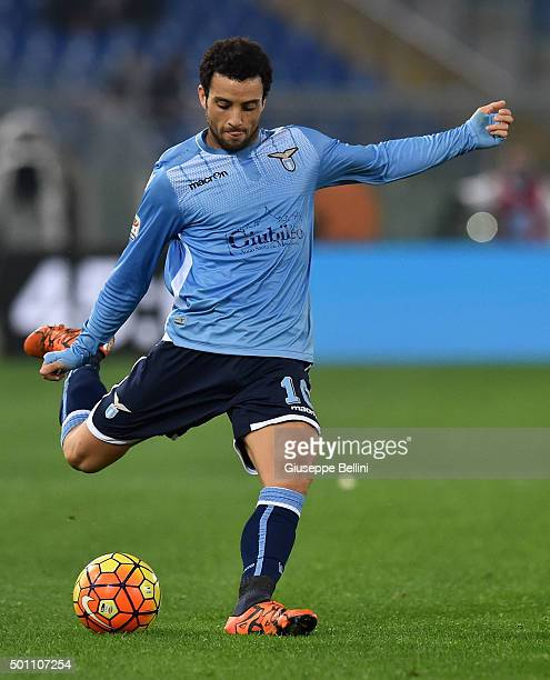 Felipe Anderson of SS Lazio in action during the Serie A match between SS Lazio and Juventus FC at Stadio Olimpico on December 4 2015 in Rome Italy
