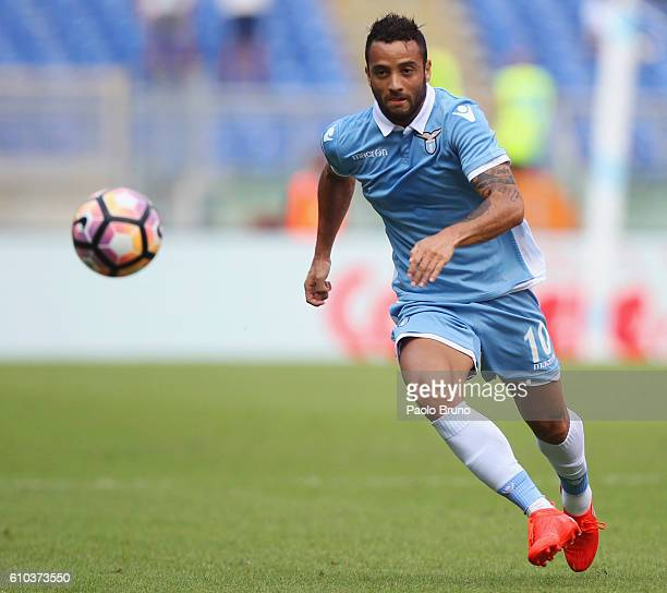 Felipe Anderson of SS Lazio in action during the Serie A match between SS Lazio and Empoli FC at Stadio Olimpico on September 25 2016 in Rome Italy