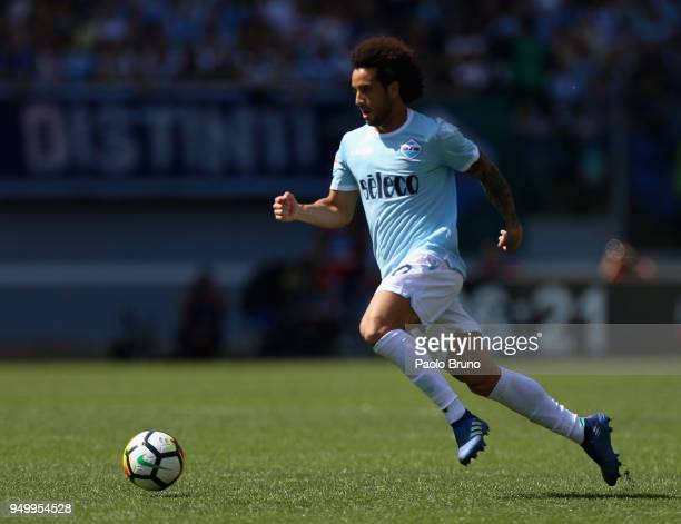 Felipe Anderson of SS Lazio in action during the serie A match between SS Lazio and UC Sampdoria at Stadio Olimpico on April 22 2018 in Rome Italy