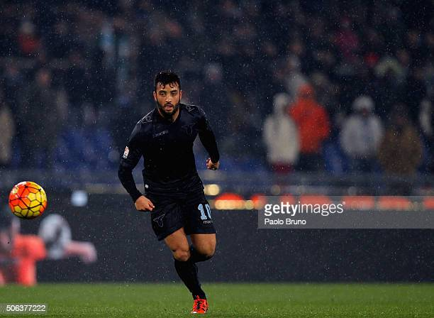 Felipe Anderson of SS Lazio in action during the TIM Cup match between SS Lazio and Juventus FC at Stadio Olimpico on January 20 2015 in Rome Italy