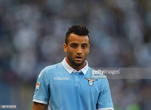 Felipe Anderson of SS Lazio looks on during the Serie A match between SS Lazio and Pescara Calcio at Stadio Olimpico on September 17 2016 in Rome...