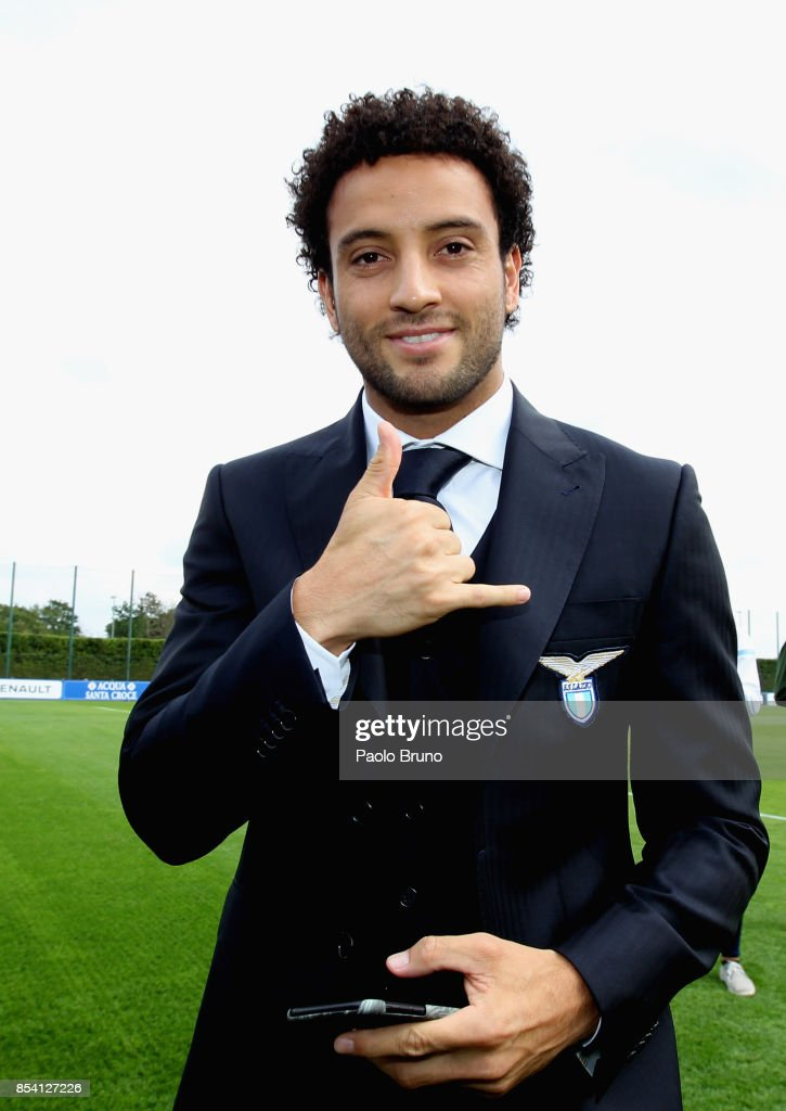 Felipe Anderson of SS Lazio poses during the official team photo on September 26, 2017 in Rome, Italy.