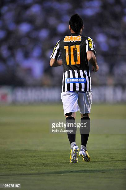 Felipe Anderson player of Santos during a match between Corinthians and Santos as part of the Brazilian Serie A Championship 2012 at Pacaembu Stadium...