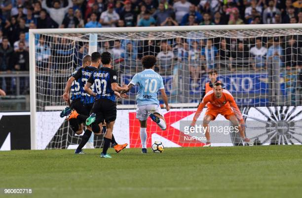 Felipe Anderson score goal 21 during the Italian Serie A football match between SS Lazio and FC Inter at the Olympic Stadium in Rome on may 20 2018