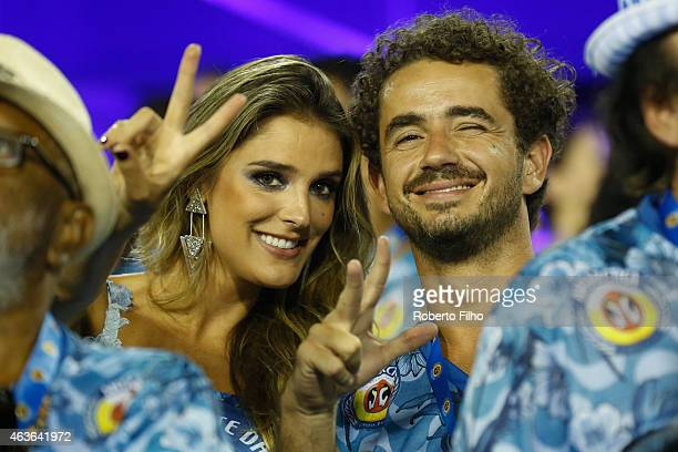Felipe Andreoli and Rafa Brites attend the Carnival parade on the Sambodromo during Rio Carnival on February 16 2015 in Rio de Janeiro Brazil