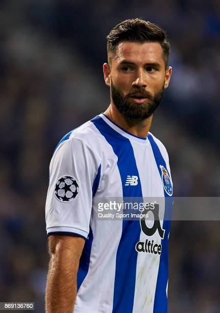 Felipe Augusto de Almeida of FC Porto looks on during the UEFA Champions League group G match between FC Porto and RB Leipzig at Estadio do Dragao on...