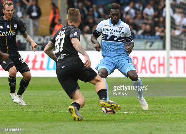 Felipe Caicedo during the Italian Serie A football match between SS Lazio and Parma at the Olympic Stadium in Rome on march 17 2019