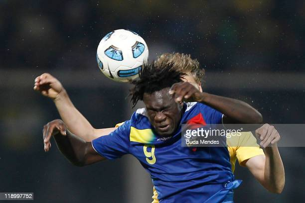Felipe Caicedo of Ecuador in action during a match as part of Group B of Copa America 2011 at the Mario Kempes Stadium on July 13 2011 in Cordoba...
