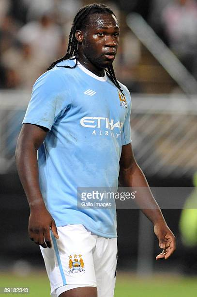 Felipe Caicedo of Manchester City in action during the 2009 Vodacom Challenge match between Kaizer Chiefs and Manchester City at the Absa Stadium on...