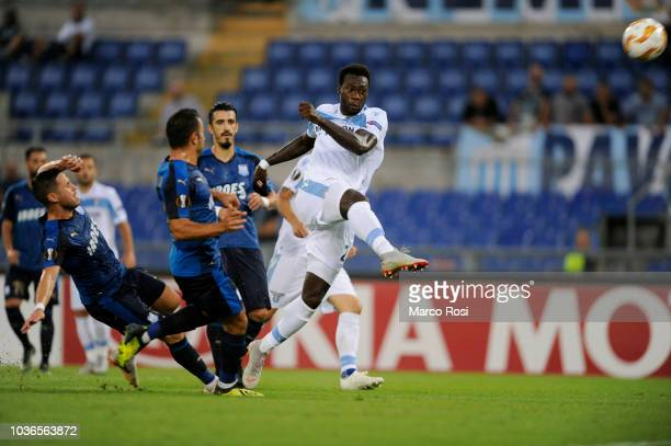 Felipe Caicedo of SS Laizio in action during the UEFA Europa League Group H match between SS Lazio and Apollon Limassol at Stadio Olimpico on...