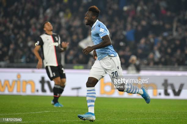 Felipe Caicedo of SS lazio celebrate a third goal with his team mates during the Serie A match between SS Lazio and Juventus at Stadio Olimpico on...