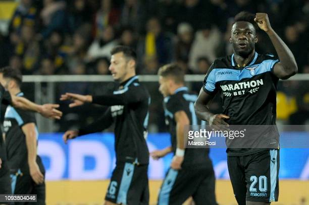 Felipe Caicedo of SS Lazio celebrates a opening goal during the Serie A match between Frosinone Calcio and SS Lazio at Stadio Benito Stirpe on...