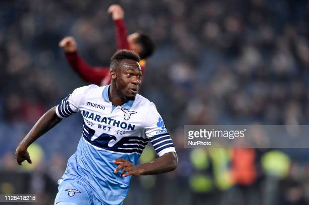 Felipe Caicedo of SS Lazio celebrates scoring first goal during the Serie A match between Lazio and Roma at Stadio Olimpico Rome Italy on 2 March 2019