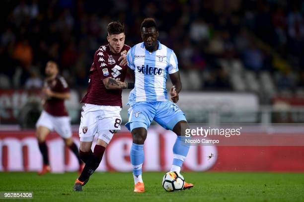 Felipe Caicedo of SS Lazio competes for the ball with Daniele Baselli of Torino FC during the Serie A football match between Torino FC and SS Lazio...