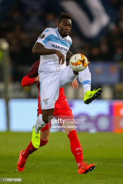 Felipe Caicedo of SS Lazio controls the ball during the UEFA Europa League Round of 32 First Leg match between SS Lazio and Sevilla at Stadio...