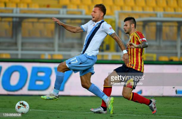 Felipe Caicedo of SS Lazio during the Serie A match between US Lecce and SS Lazio at Stadio Via del Mare on July 07 2020 in Lecce Italy