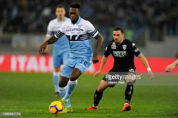 Felipe Caicedo of SS lazio in action during the Serie A match between SS Lazio and Empoli at Stadio Olimpico on February 7 2019 in Rome Italy