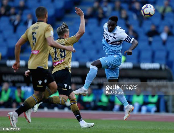 Felipe Caicedo of SS Lazio in action during the Serie A match between SS Lazio and Udinese at Stadio Olimpico on April 17 2019 in Rome Italy