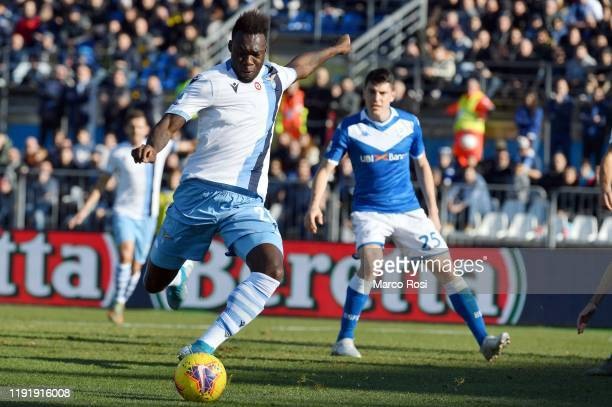 Felipe Caicedo of SS Lazio in action during the Serie A match between Brescia Calcio and SS Lazio at Stadio Mario Rigamonti on January 5 2020 in...