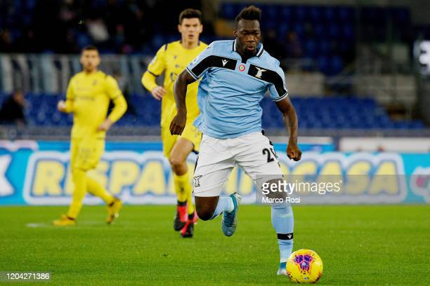Felipe Caicedo of SS Lazio in action during the Serie A match between SS Lazio and Hellas Verona at Stadio Olimpico on February 05 2020 in Rome Italy