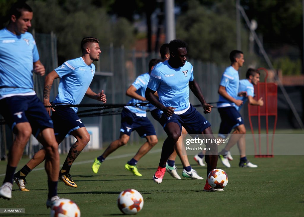 Felipe Caicedo of SS Lazio in action during the SS Lazio training session on September 13, 2017 in Rome, Italy.