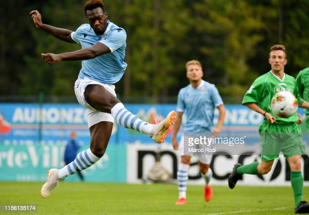 Felipe Caicedo of SS Lazio in action during the SS Lazio v Selection Cadore preseason friendly on July 17 2019 in Auronzo di Cadore Italy