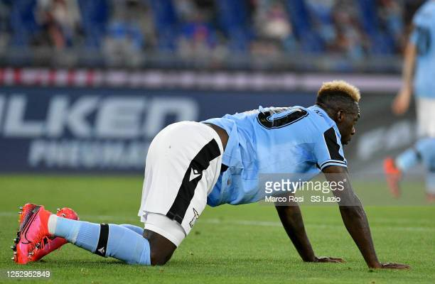 Felipe Caicedo of SS Lazio reacts during the Serie A match between SS Lazio and ACF Fiorentina at Stadio Olimpico on June 27 2020 in Rome Italy