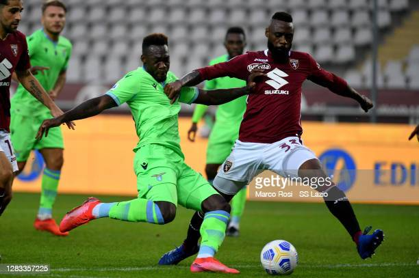 Felipe Caicedo of SS Lazio scores a fourth goal during the Serie A match between Torino FC and SS Lazio at Stadio Olimpico di Torino on November 01,...