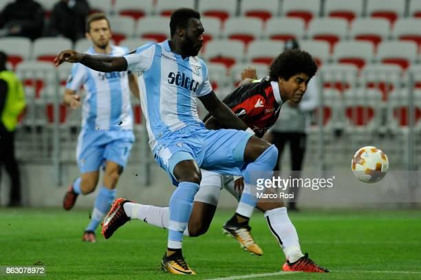 Felipe Caicedo of SS Lazio scores a frist goal during the UEFA Europa League group K match between OGC Nice and Lazio at Allianz Riviera Stadium on...
