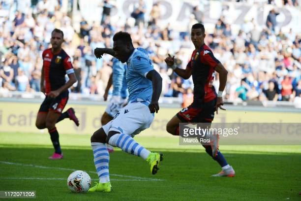 Felipe Caicedo of SS Lazio scores a third goal during the Serie A match between SS Lazio and Genoa CFC at Stadio Olimpico on September 29 2019 in...