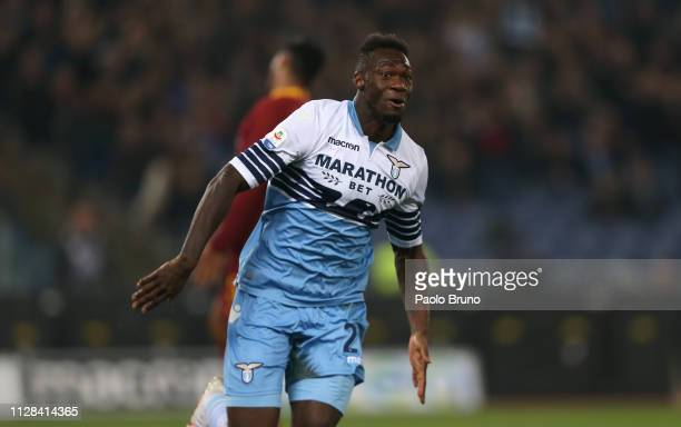 Felipe Caicedo of SS Lazio scores the opening goal during the Serie A match between SS Lazio and AS Roma at Stadio Olimpico on March 2 2019 in Rome...