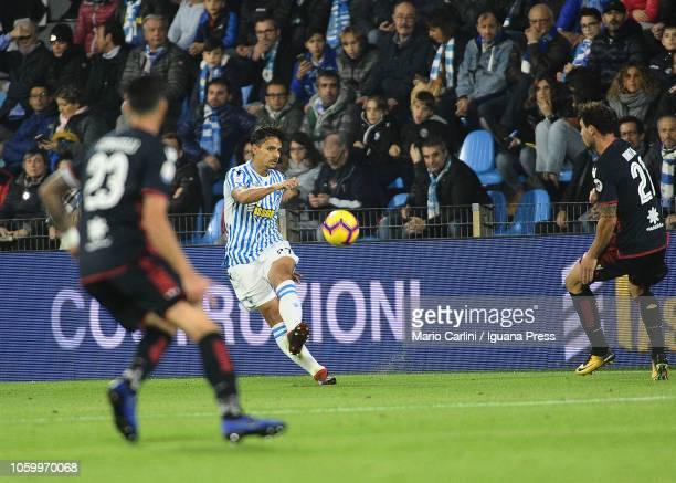 Felipe Dalbelo of SPAL in action during the Serie A match between SPAL and Cagliari at Stadio Paolo Mazza on November 11 2018 in Ferrara Italy