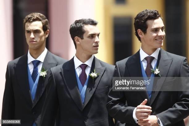 Felipe de Osma Vasco de Osma and Juan Manuel de Osma during the wedding of Prince Christian of Hanover and Alessandra de Osma at Basilica San Pedro...