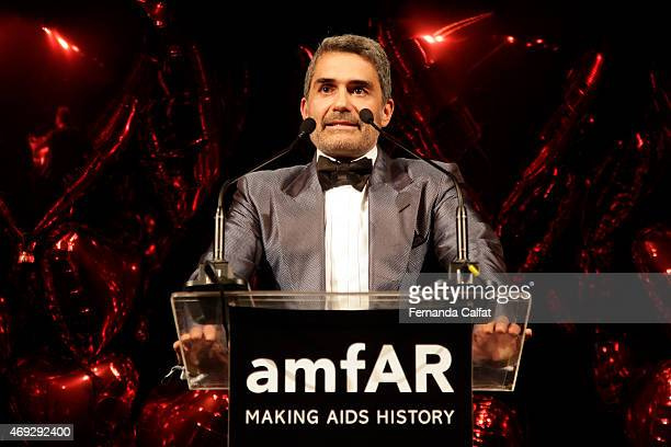 Felipe Diniz attends the 5th Annual amfAR Inspiration Gala at the home of Dinho Diniz on April 10 2015 in Sao Paulo Brazil