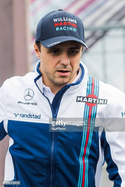 Felipe from Brasil of Williams F1 during the Formula One Belgian Grand Prix at Circuit de SpaFrancorchamps on August 24 2017 in Spa Belgium