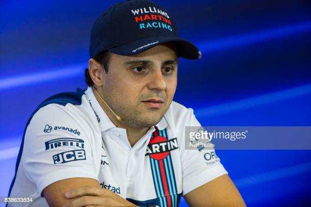Felipe from Brasil of Williams F1 in the FIA official press conference during the Formula One Belgian Grand Prix at Circuit de SpaFrancorchamps on...