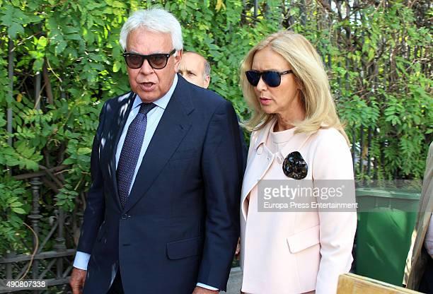 Felipe Gonzalez and Mar Garcia Vaquero are seen on September 30 2015 in Madrid Spain