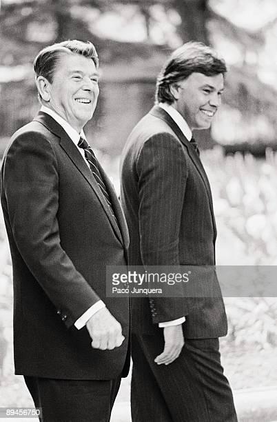 Felipe Gonzalez and Ronald Reagan in La Moncloa The president of the Government Felipe Gonzalez with the president of the United States Ronald Reagan