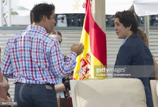 Felipe Juan Froilan de Marichalar and Luis Alfonso de Borbon attend the 46th International Polo Tournament Final on August 27 2017 in Sotogrande Spain
