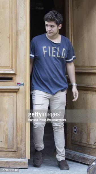 Felipe Juan Froilan de Marichalar is seen visiting Juan Valentin Urdangarin for his 18th birthday on October 1 2017 in Geneva Switzerland