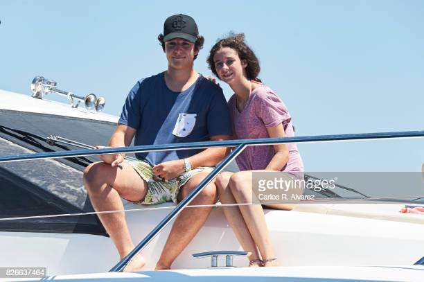 Felipe Juan Froilan de Marichalar y Borbon and sister Victoria Federica de Marichalar y Borbon are seen during the 36th Copa Del Rey Mafre Sailing...