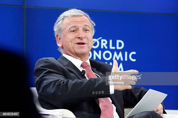 Felipe Larrain Bascunan Chile's finance minister speaks during a session on day two of the World Economic Forum in Davos Switzerland on Thursday Jan...