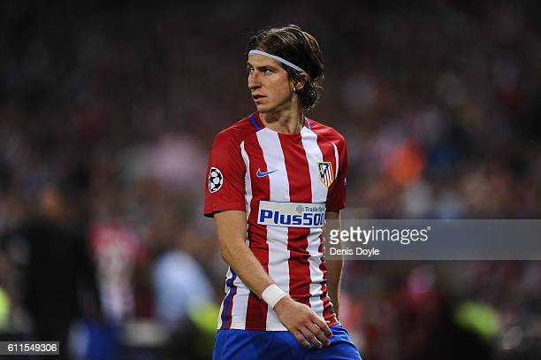 Felipe Luis of Club Atletico de Madrid looks on during the UEFA Champions League Group D match between Club Atletico de Madrid and FC Bayern Muenchen...