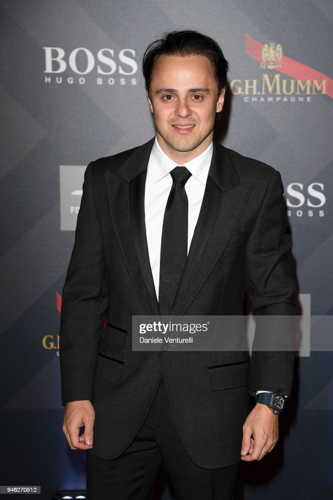Felipe Massa attends FIA Formula E Gala Dinner at Villa Miani on April 14, 2018 in Rome, Italy.