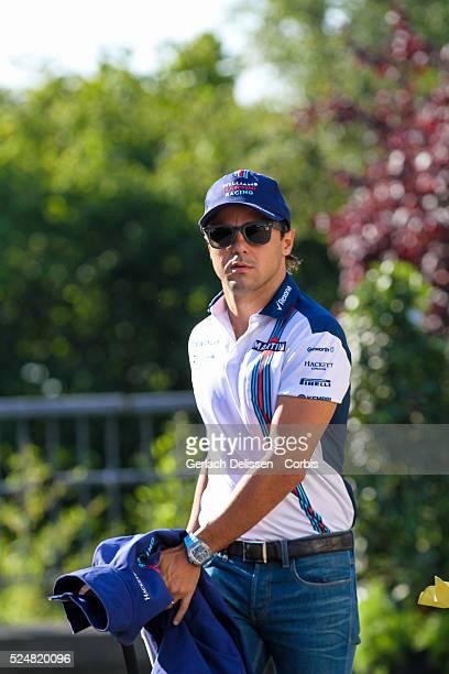 Felipe Massa driving for the Williams Martini Racing Team in the paddock during the 2015 Formula 1 Shell Belgian Grand Prix at Circuit de...