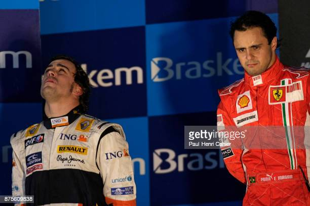 Felipe Massa, Fernando Alonso, Grand Prix of Brazil, Indianapolis Motor Speedway, 17 June 2007. Felipe Massa in tears after winning the 2008...