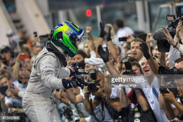 Felipe Massa, Grand Prix of Abu Dhabi, Yas Marina Circuit, 23 November 2014. Felipe massa gets massive cheers and congratulations after his second...